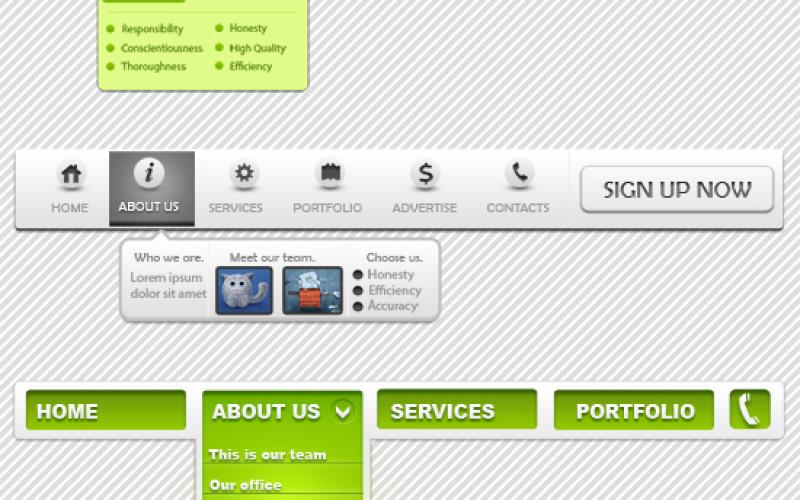 Top 8 Navigation Menu For Website