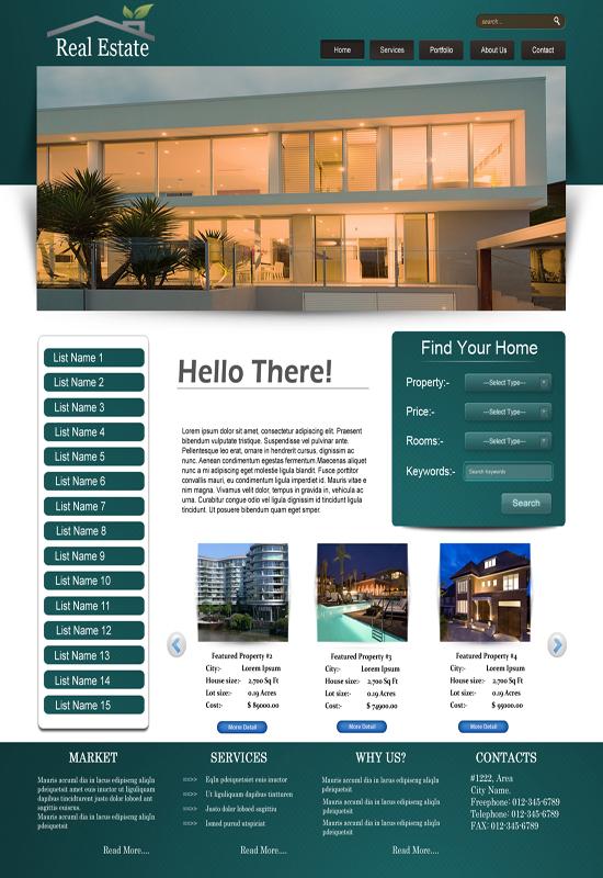 Top 2 Real Estate Template Design Techfameplus