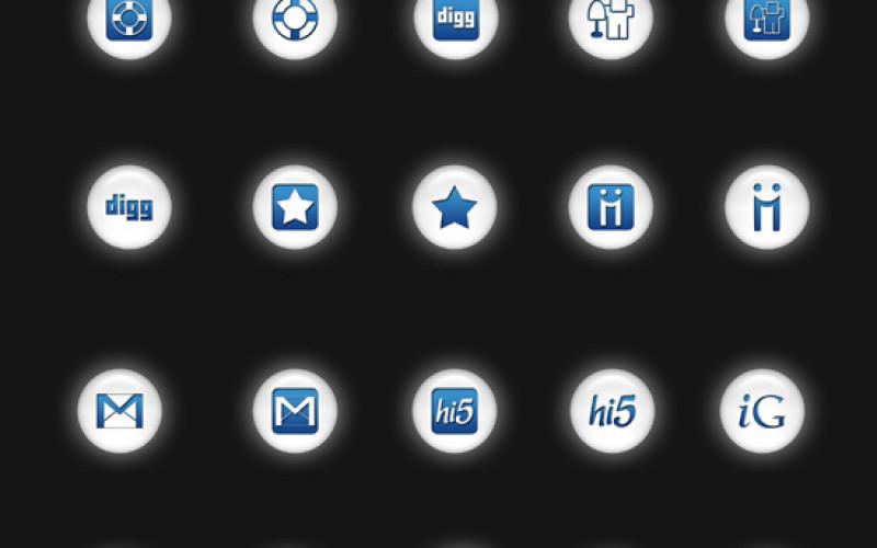 Best 105 White Social Media Icons