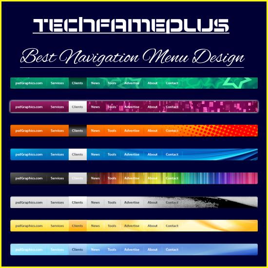 best navigation menu design