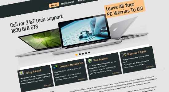 best technical support template design1