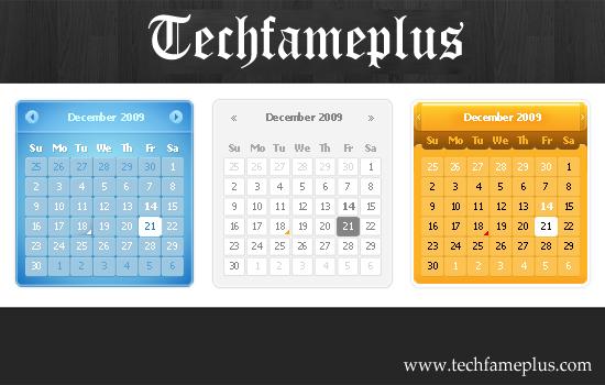Top 3 Calendar PSD Design