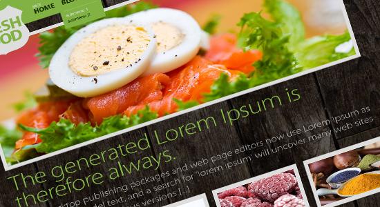 hotel food template design1