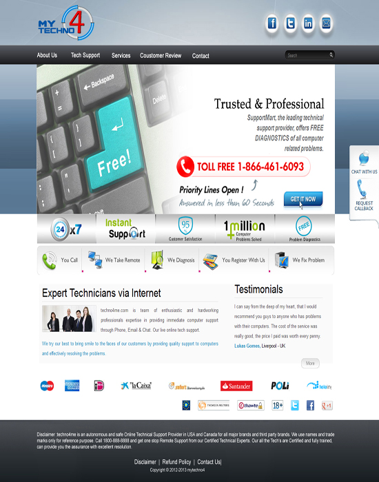 Technical Support Template Design