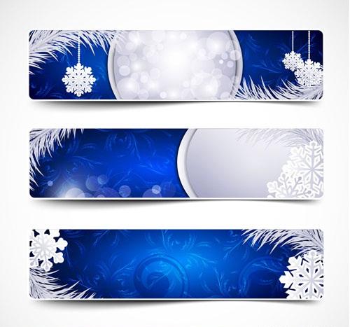 Beautiful Christmas Snow Banner Vector Design