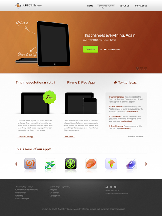 Appcivilstore Red Business Template PSD Design