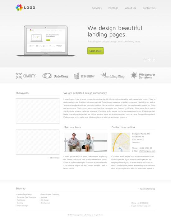 Top Light Landing Page Design
