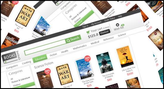 Online Bookstore E-commerce Template PSD Design-techfameplus1
