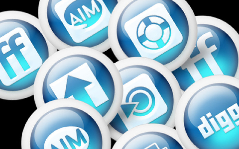 Top 108 Best Free Social Media Icons for Blogger 2013