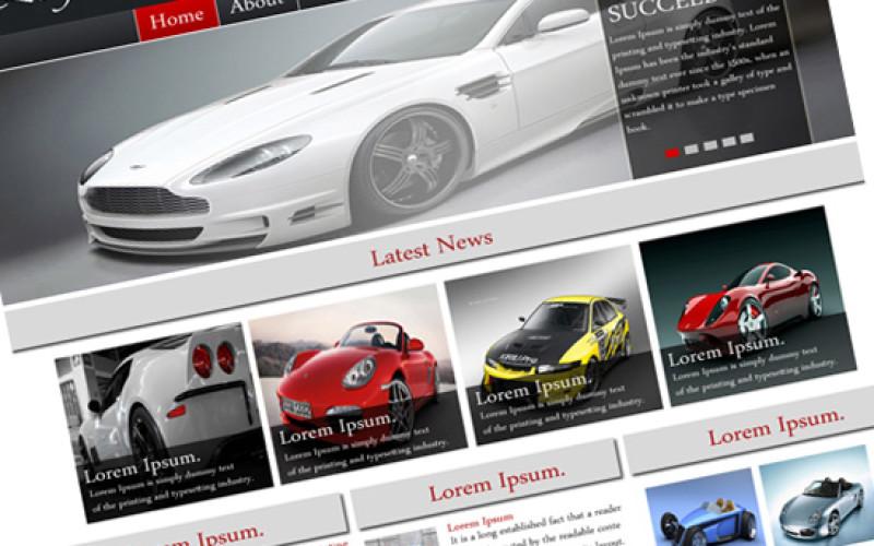 Best Automobile Business Template PSD Design