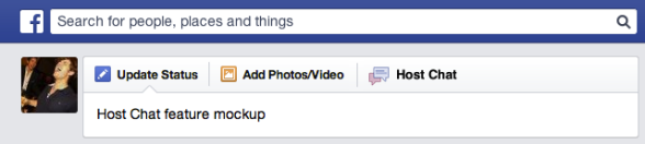"""Facebook experimented with """"host chat"""""""