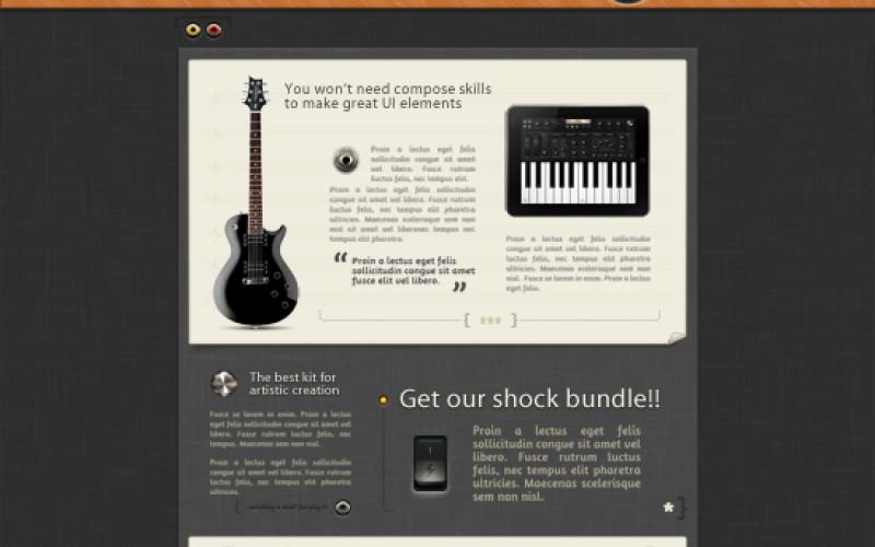 Best Music Website Template Design