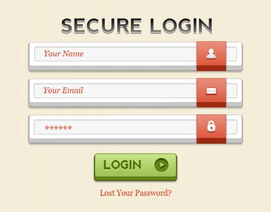 Best Secure Login Form Design For Blogger