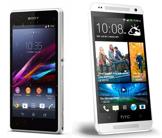 Sony Z1 Compact Compare Xperia Mini vs HTC One