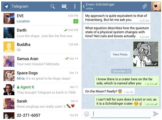 Telegram A clone WhatsApp free and open