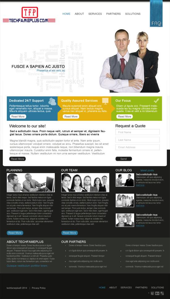 Top Best Business Template PSD Design Free