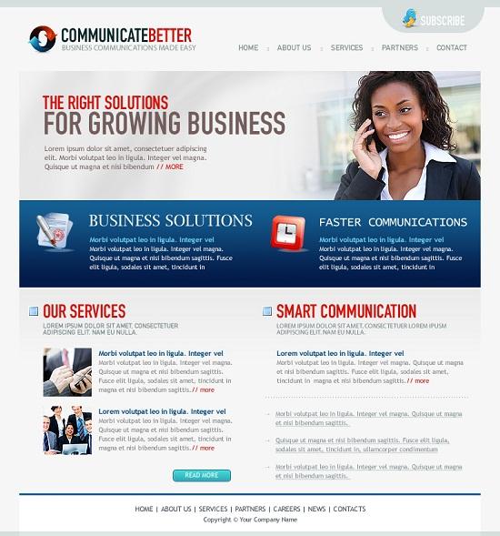 Best Business Template PSD Design