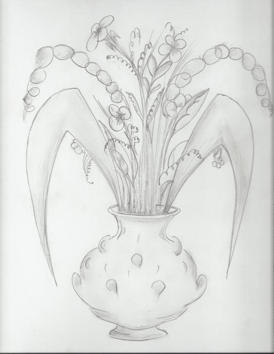 Flower pot-Top 2 Best Pancil shading Design
