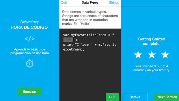 Codecademy comes to iOS Time Code