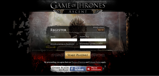 The Official Game of Thrones Ascent