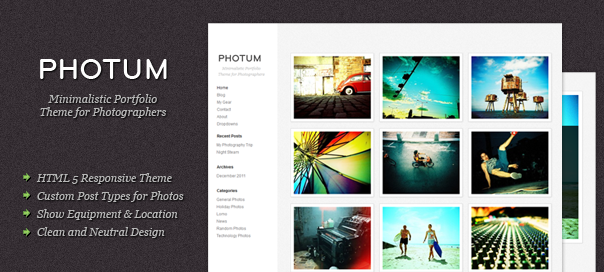 Free Photum Wordpress Theme For Blogger