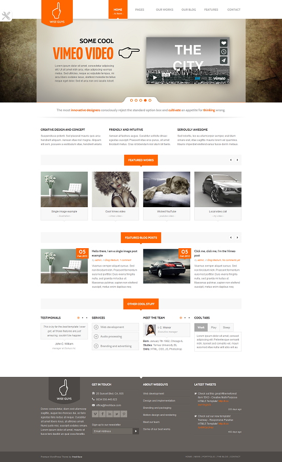 Free Wise Guys Responsive Multipurpose WordPress Theme