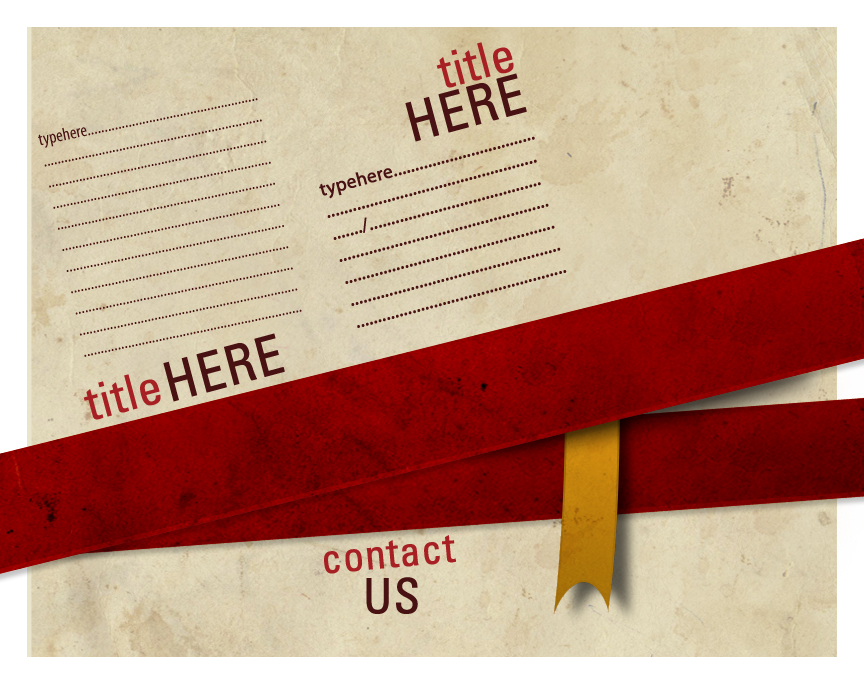 Free Brochure PSD Design Front and Back