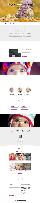 Babycare landing page PSD Design
