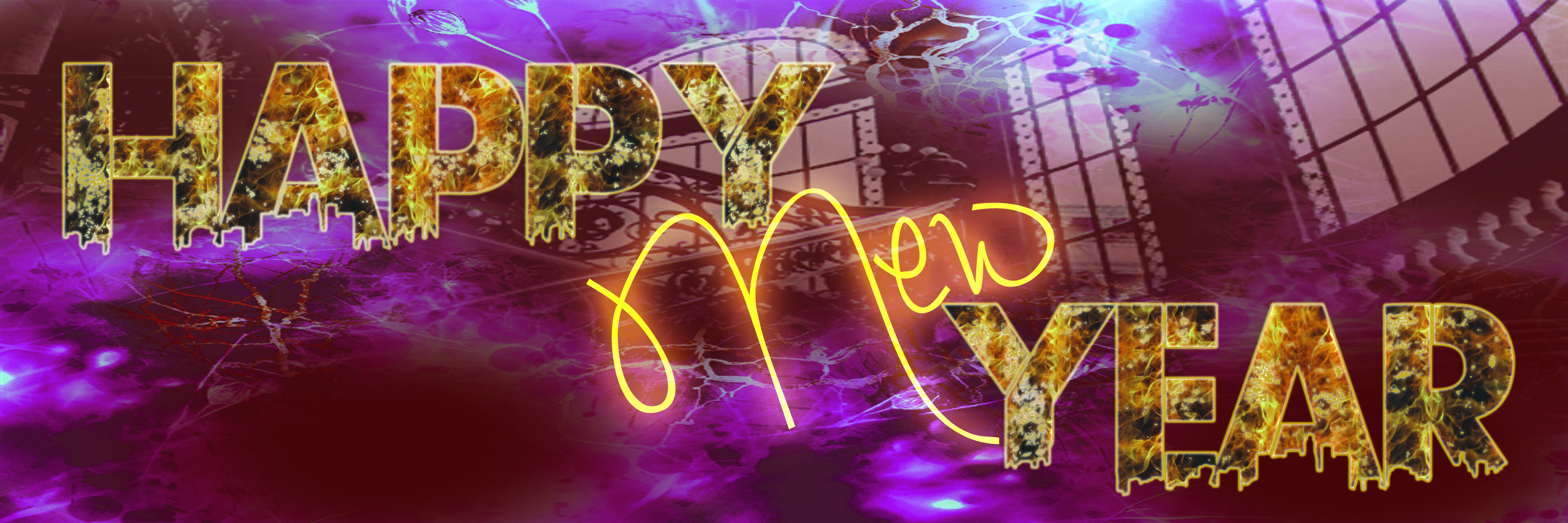happy new year 2015 text with flame effect #2-1