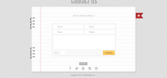 Free Contact us PSD design For Designers