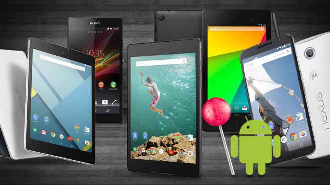 New tablets or smartphones With Android 5.0 Lollipop