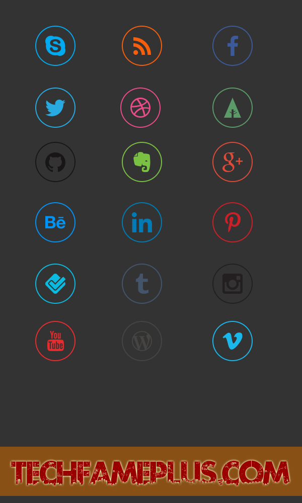 Top 18 Social Media Icons With Hover Effects #978