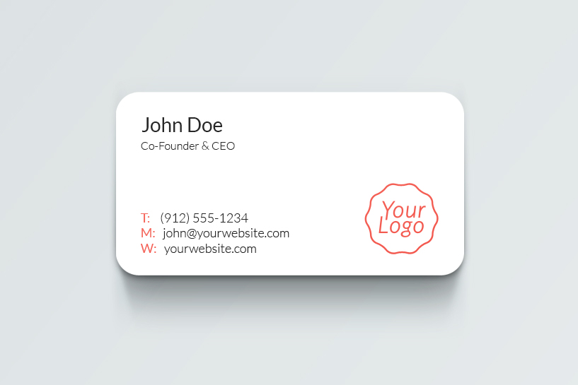 business card Back side psd mockup design