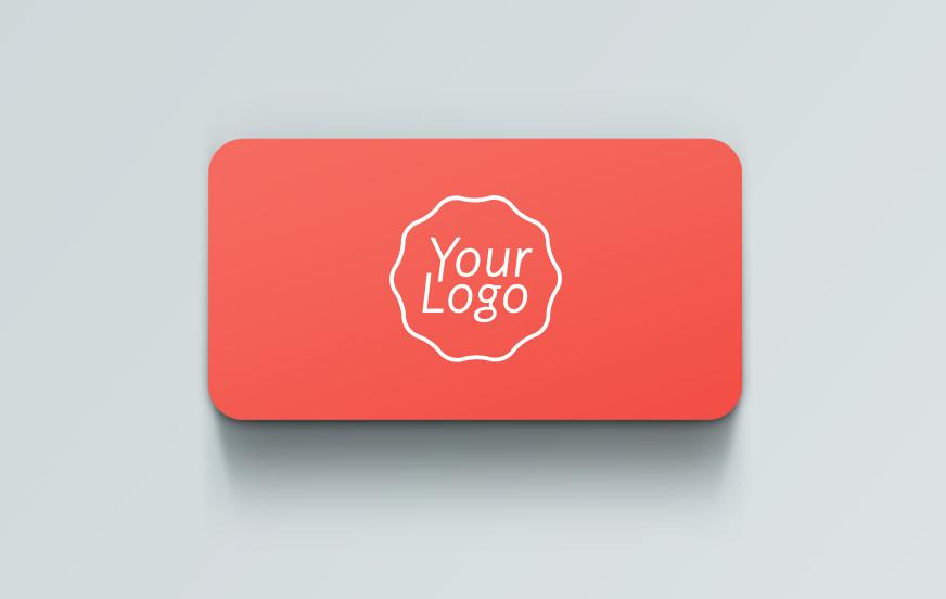 business card front side psd mockup design