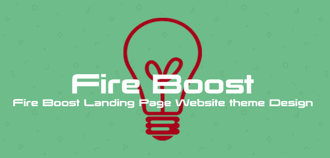 Fire Boost Landing Page Website theme Design