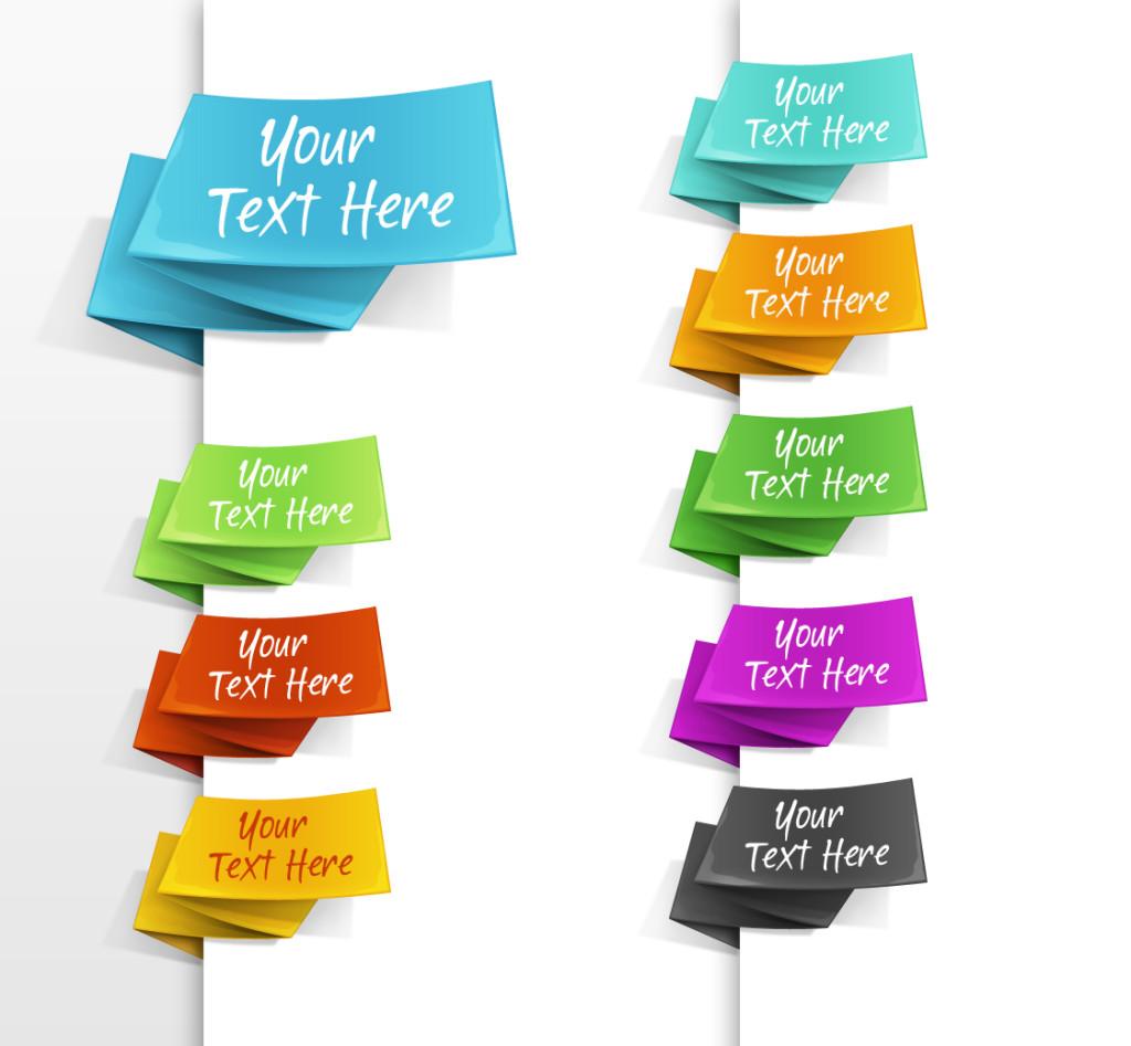 free menu ribbons psd design