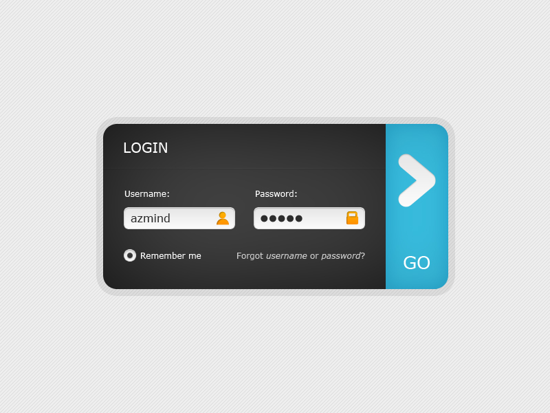 login form free psd design