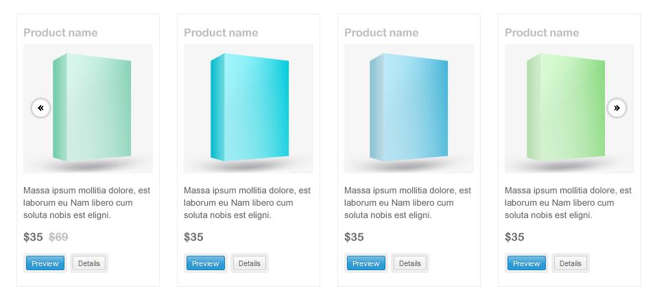 products slider free psd design for website