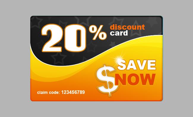 top 9 Free Discount Card psd designs