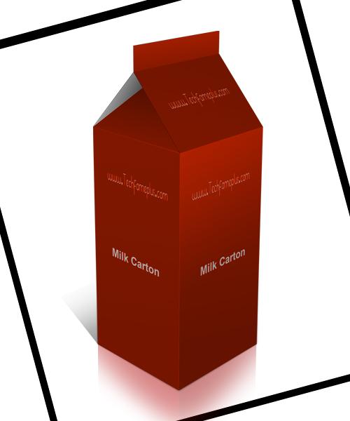 Awesome Milk Carton Mockup Design