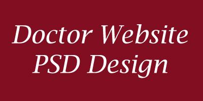 Free Doctor Website Home PSD Design-banner