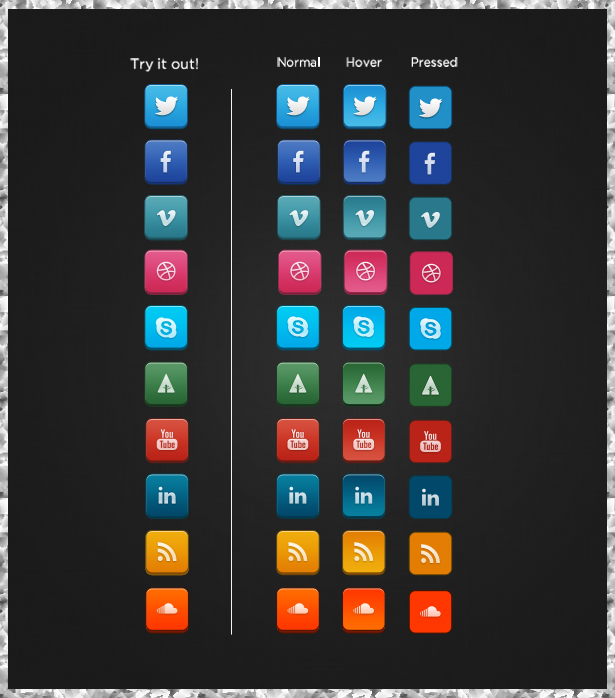 Top 10 Awesome Social Media Icons With Hover Effect