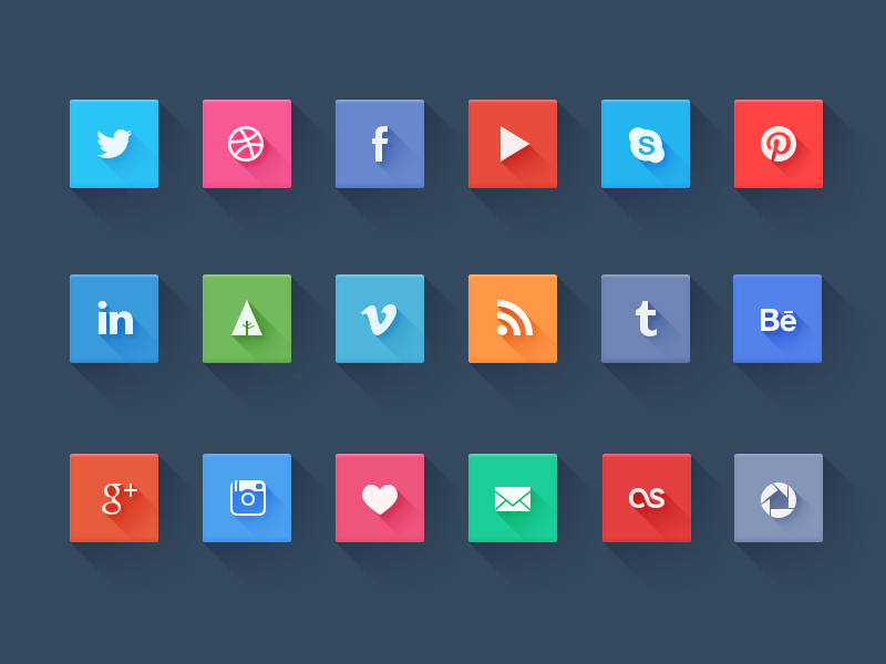 Top 16 Awesome Social Media Icons With Hover Effect