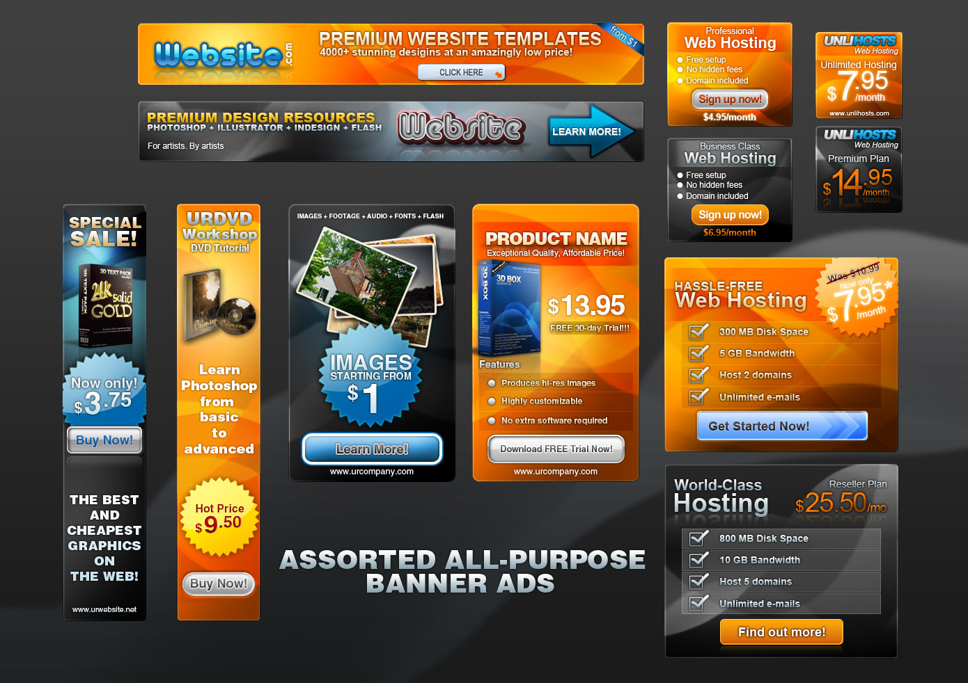 Top Free Awesome Ads Banner PSD Design