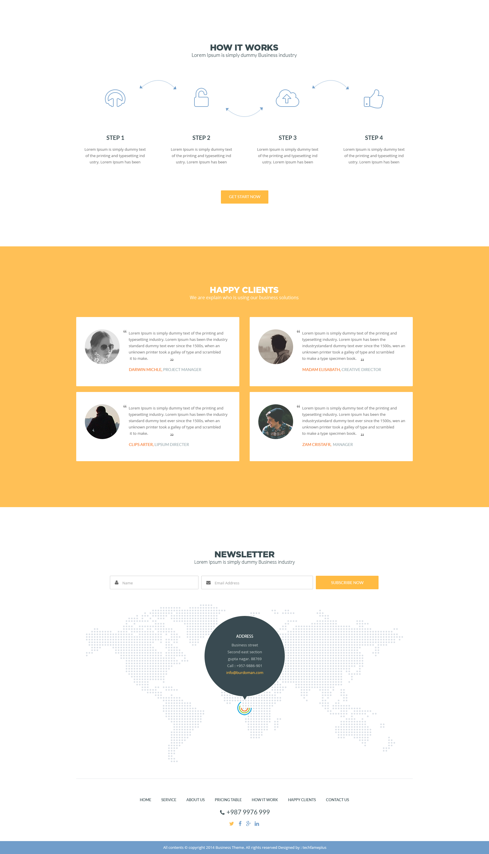 Free Business Theme PSD Template Design
