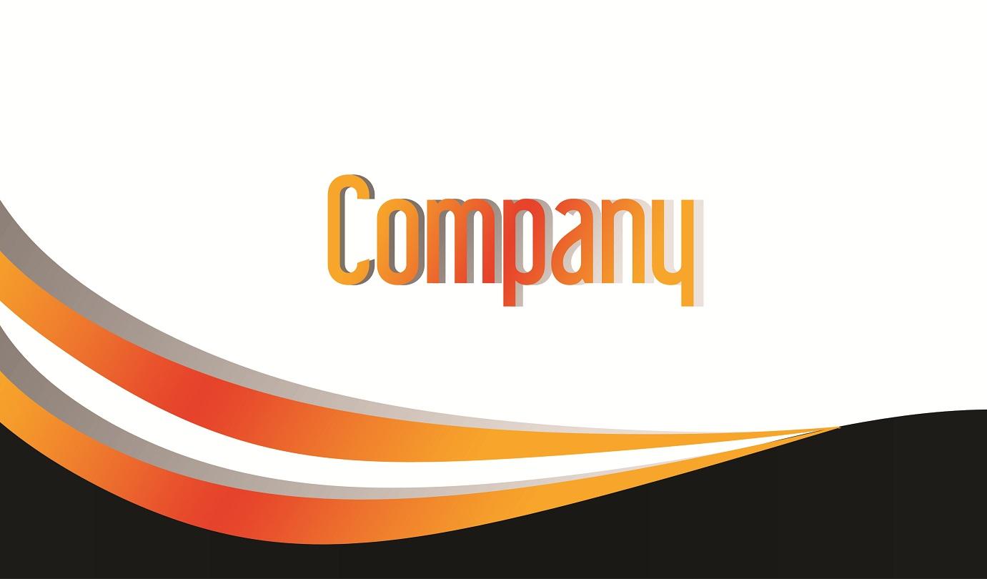 Orange and Black Business Card PSD Design