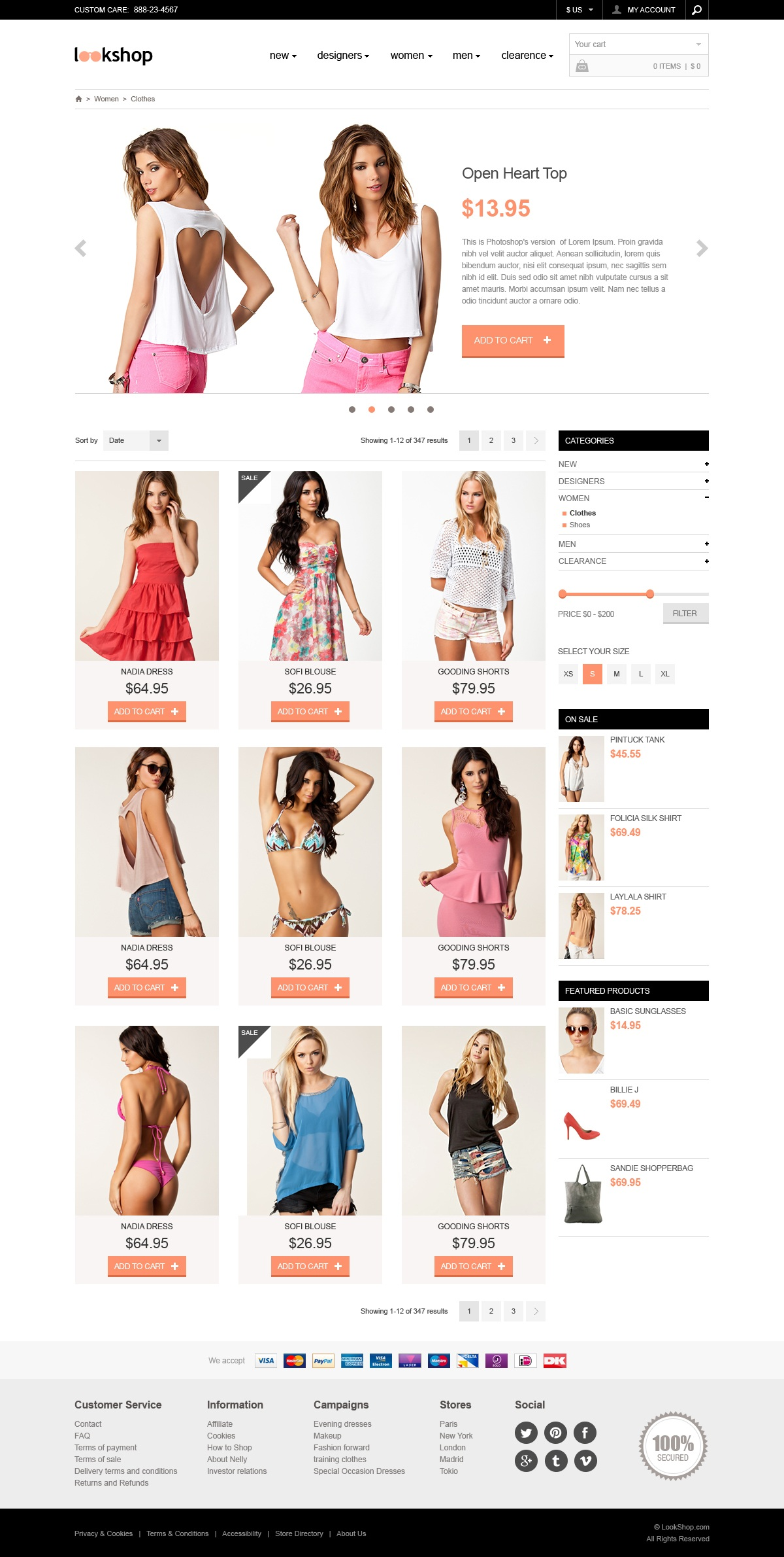Ecommerce Template PSD Designed