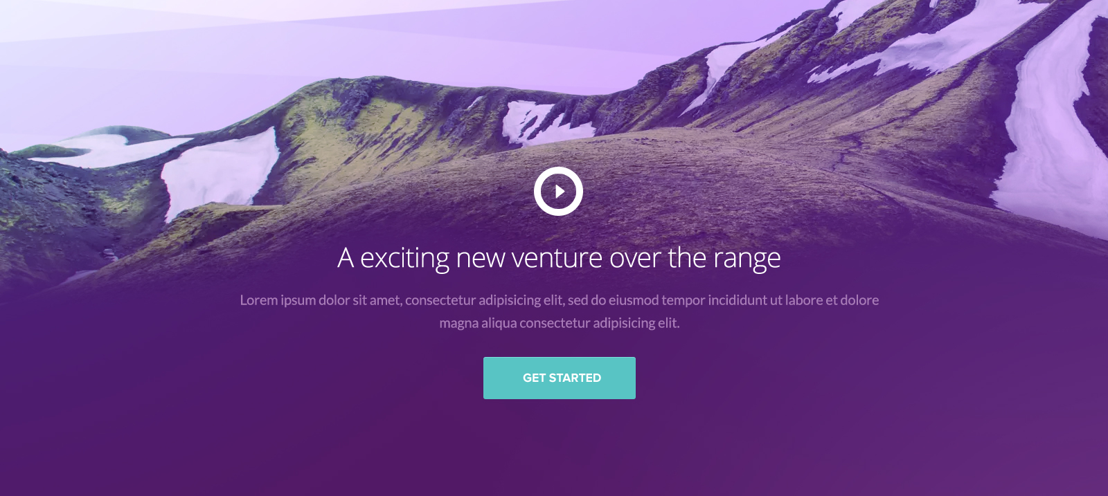 The Range One Page Website PSD template Design