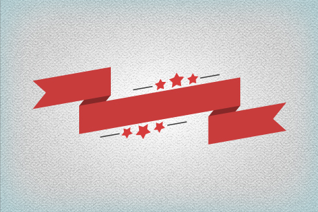 Top 6 Flat Ribbon PSD design