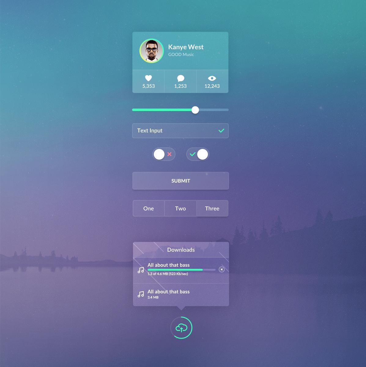Web UI PSD Design For Ui Elements